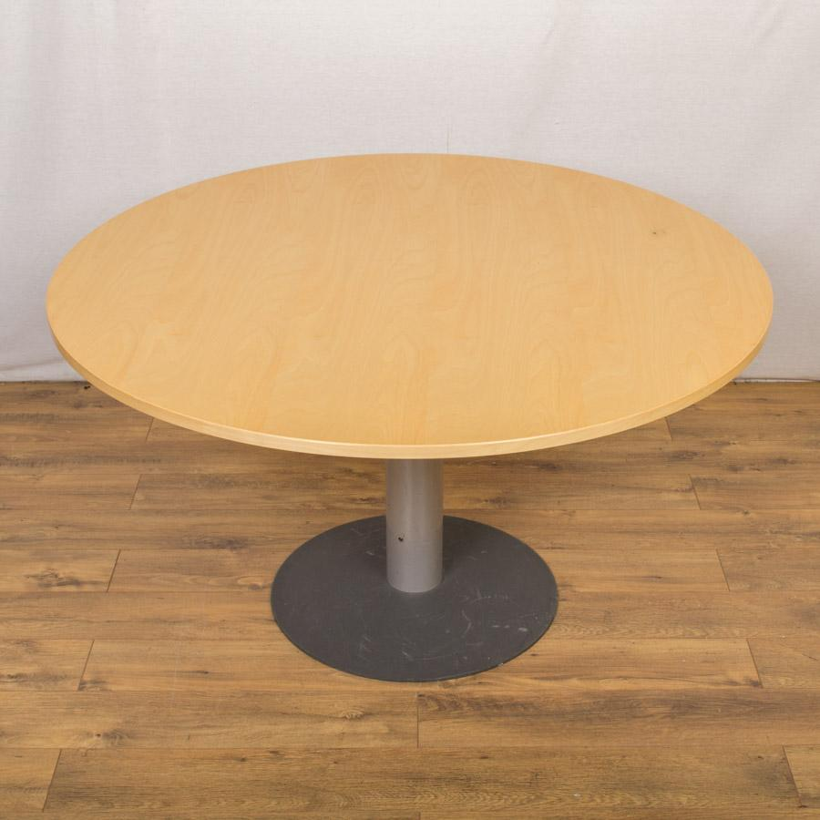 Kinnarps Maple Veneer 1300D Round Office Table (RT