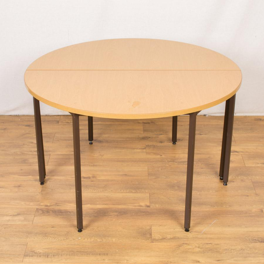 Grained Oak 1200D Round Office Table (RT71)