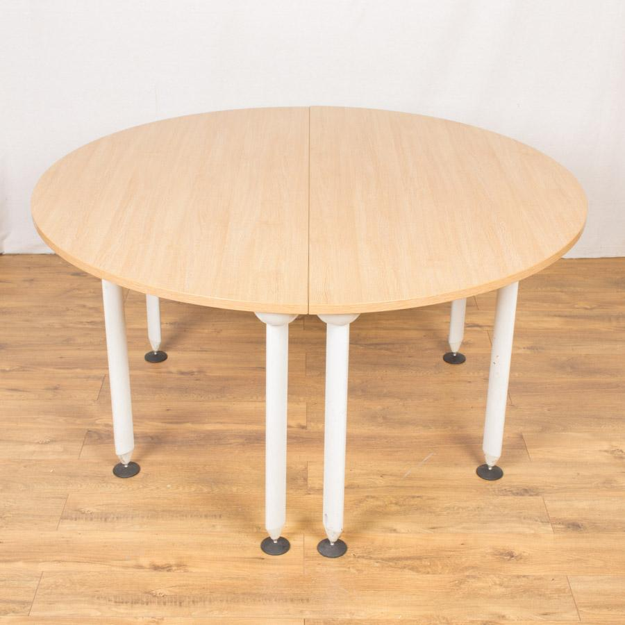 Limed Oak 1500D Round Office Table (RT72)