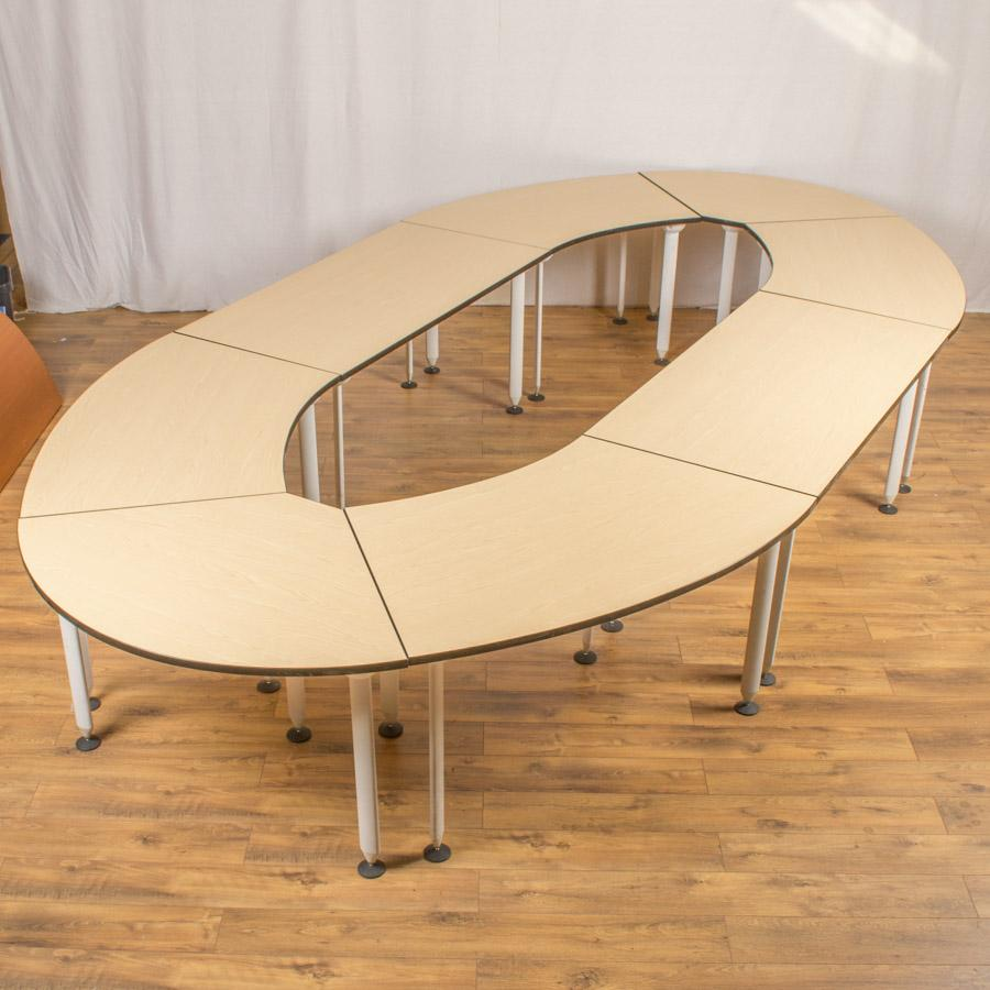 Ash 4700x2400 Sectional Boardroom Table