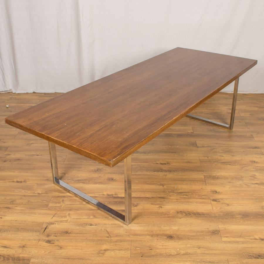Walnut Veneer 2500x1000 Boardroom Table