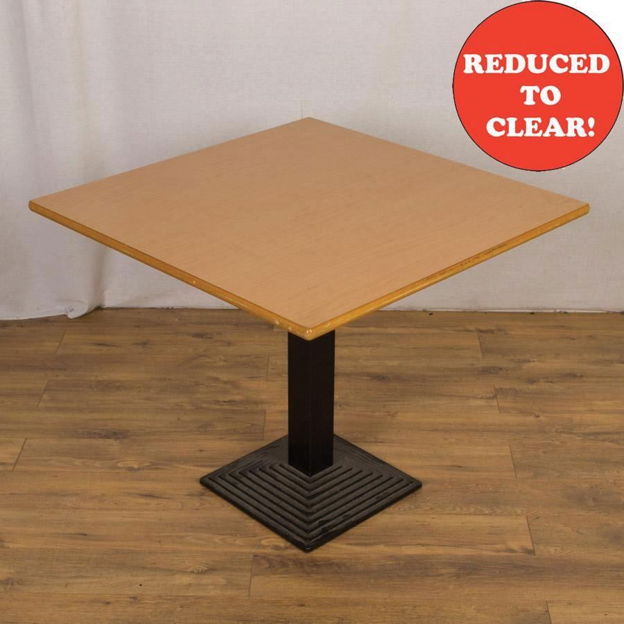 Beech 900x900 Square Office Table