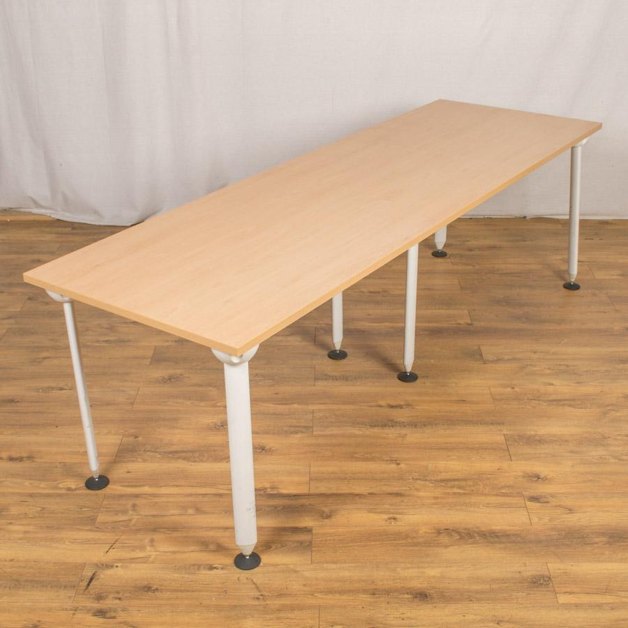 Sven Light Beech 2400x780 Meeting Table