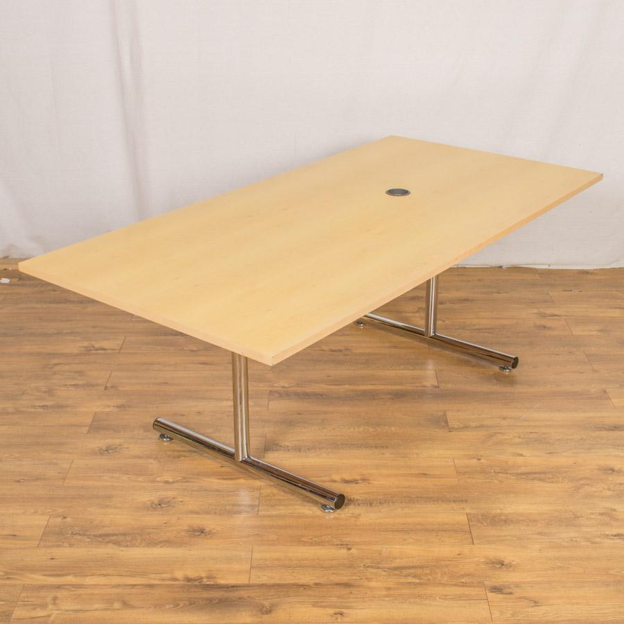 Sven Maple Veneer 2000x1000 Meeting Table (MT195)