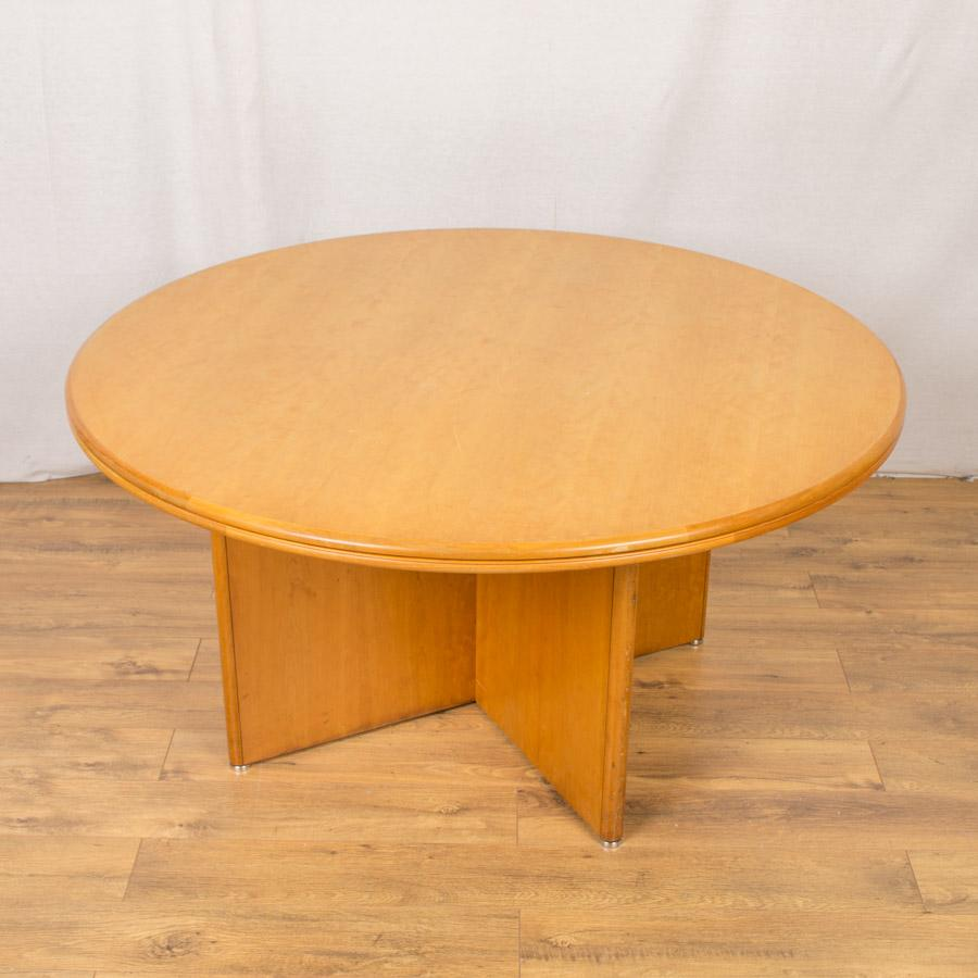 Cherry Veneer 1400D Round Office Table (RT74)