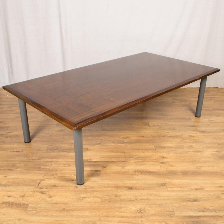 Walnut Veneer 2500x1350 Boardroom Table