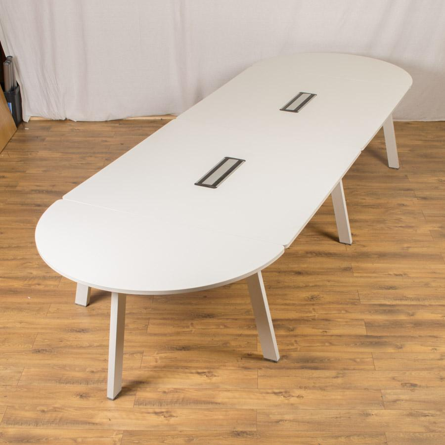 Steelcase White 4200x1400 Boardroom Table
