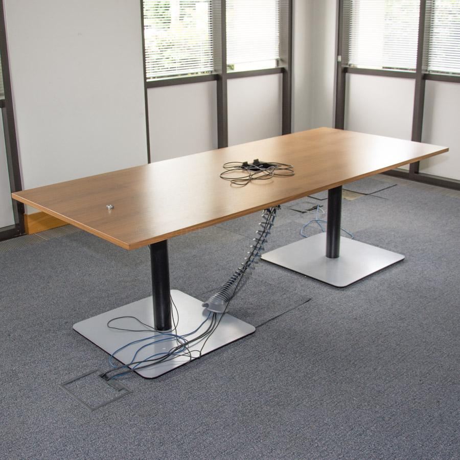 Bene Walnut Veneer 2400x1000 Boardroom Table