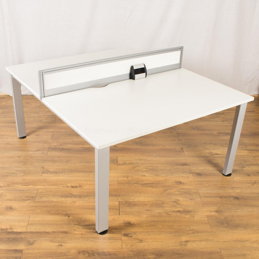Senator Freeway White 1400x800 Bench Desks