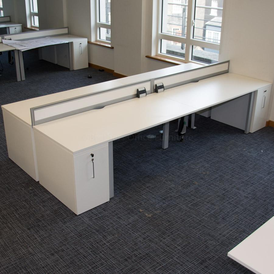 Senator Freeway White 1800x800 Bench Workstations