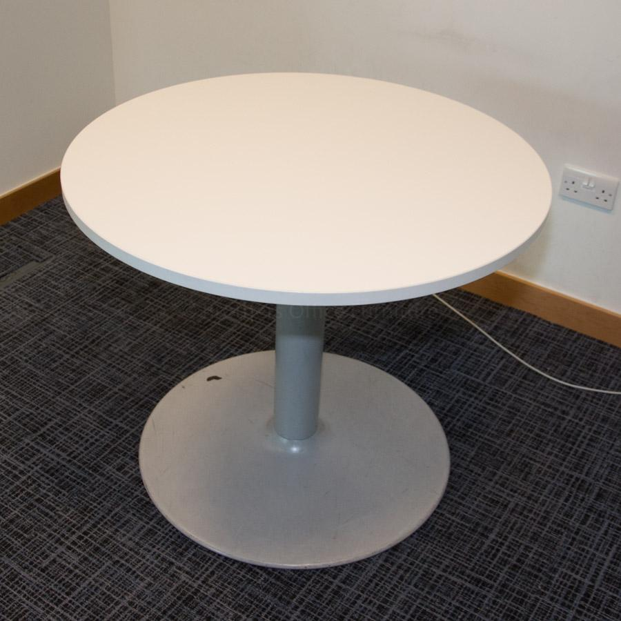 Senator White 900D Round Office Table (RT78)