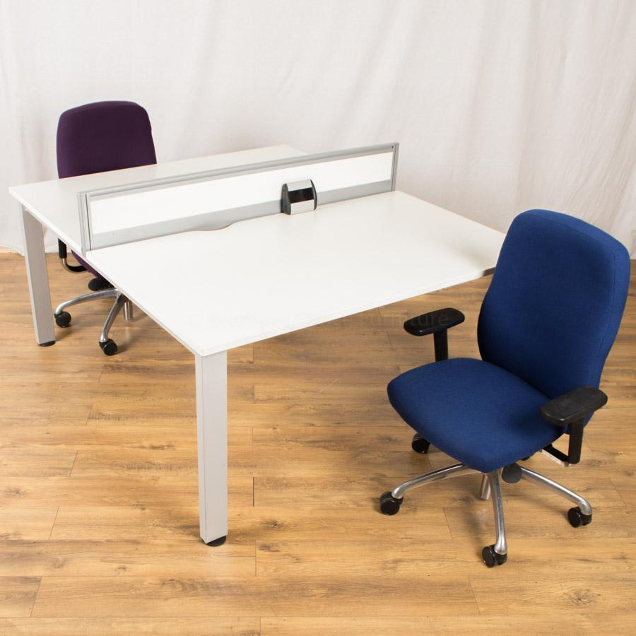 Senator Freeway 1400x800 Bench Desk with Boss Neo