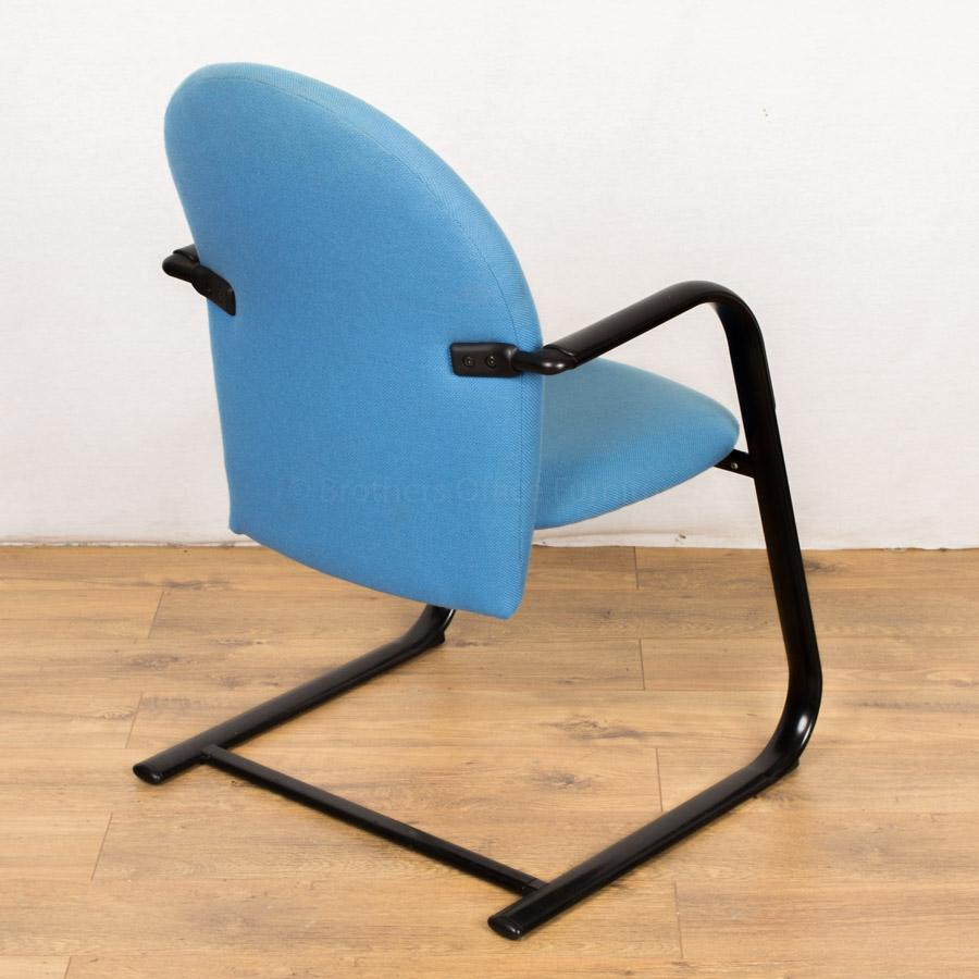 Light Blue Cantilever Meeting Chair