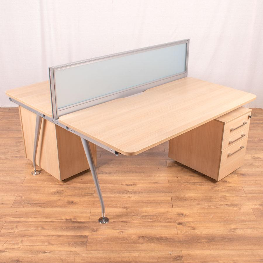 Mobili Vega Sand Zebrano Bench Desks