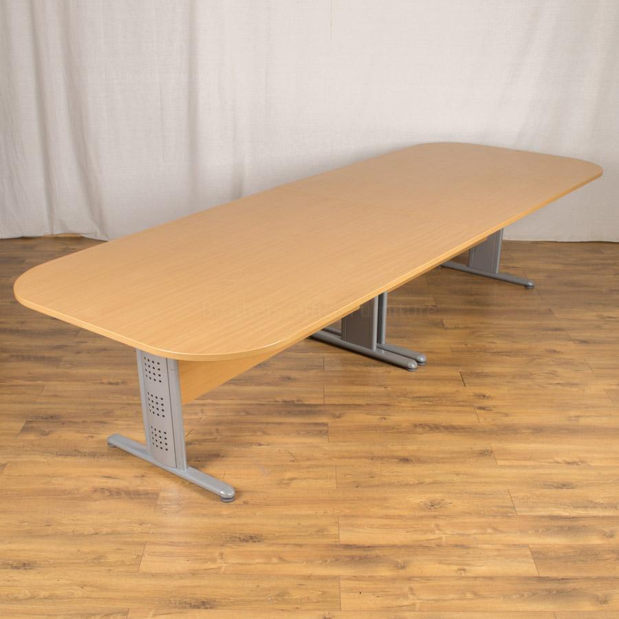 beech boardroom table trexus boardroom table end section rec