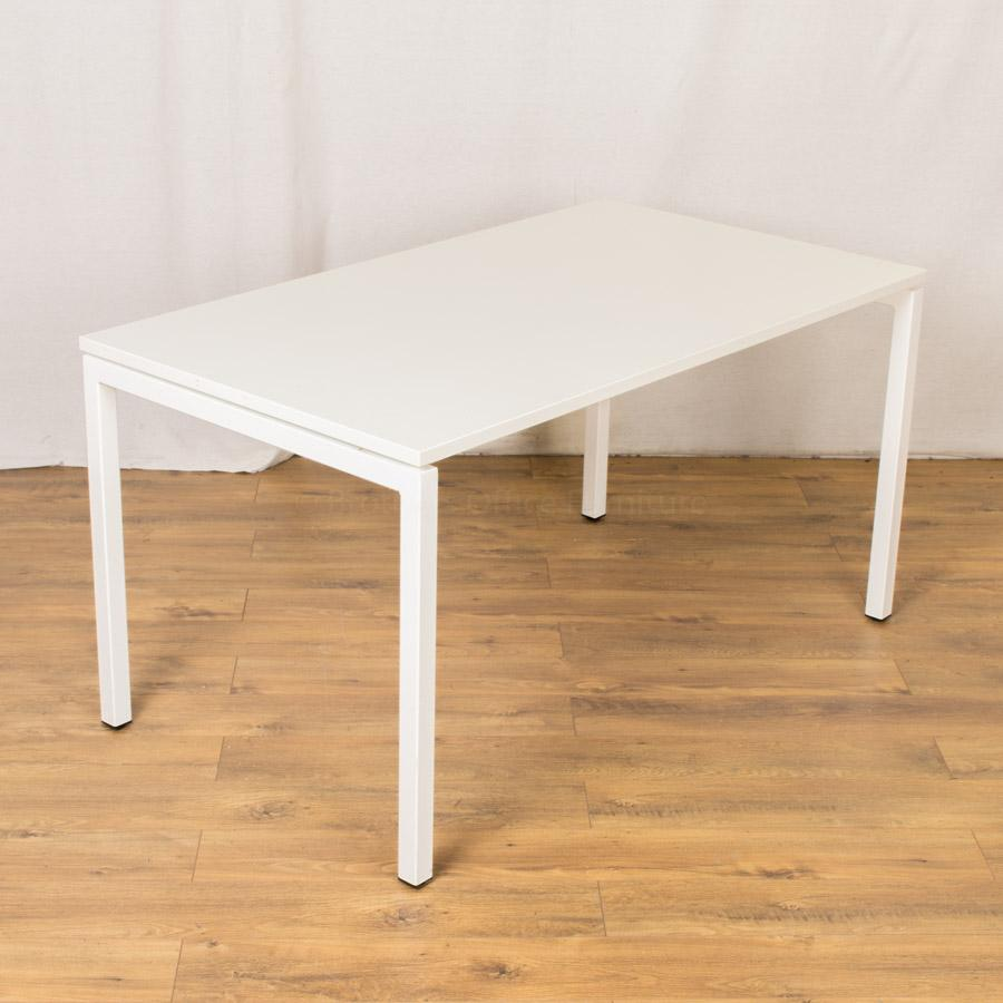 White 1400x800 Bench Office Table