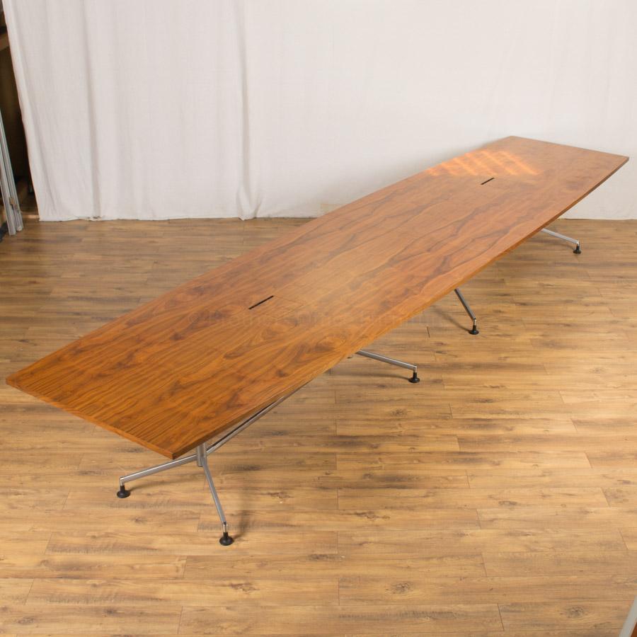 Walnut Veneer 5000x1200 Boardroom Table (BT98)