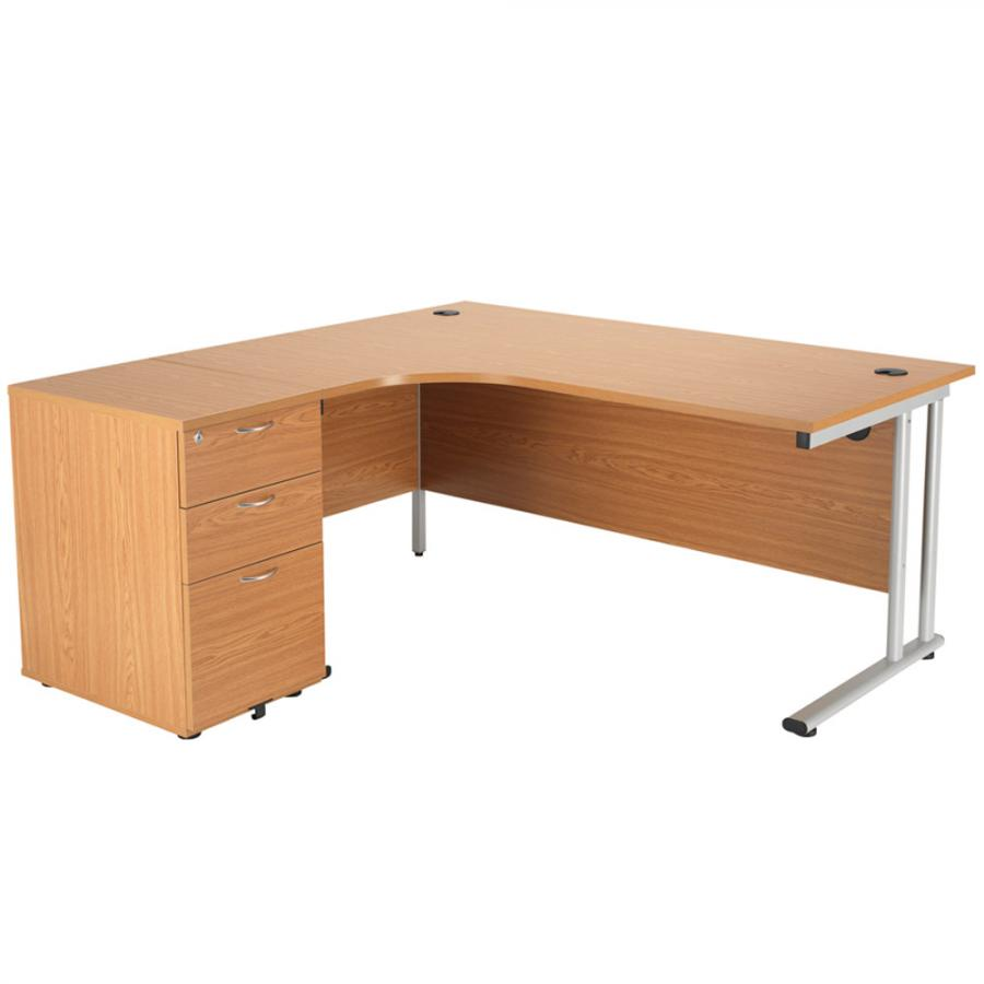 Brand New Oak 1600x1600 Corner Workstation