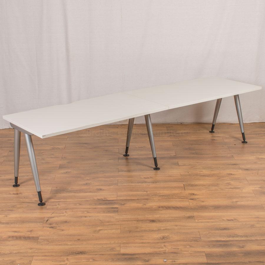 Steelcase TNT White 1400x800 Straight Workstation