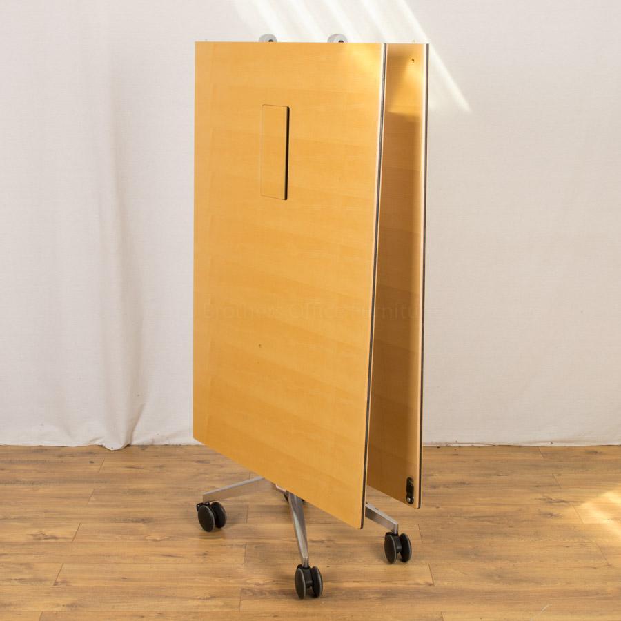 Wilkhahn Confair Maple Veneer 2900x1000 Fold Up Boardroom Table