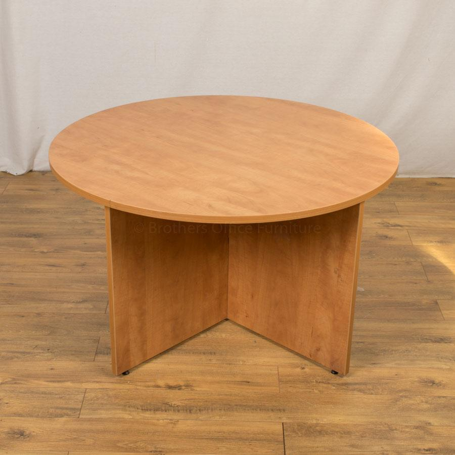 Light Cherry 1200D Round Office Table (RT86)