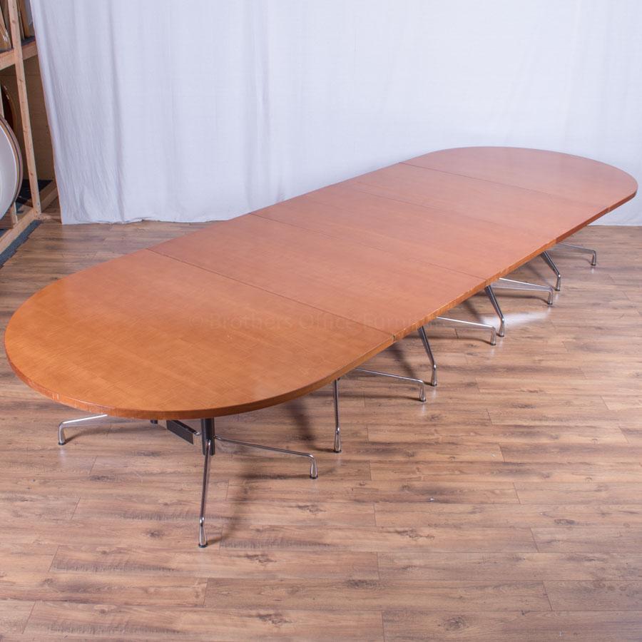 Vitra Eames Cherry Veneer 4800x1600 Boardroom Table