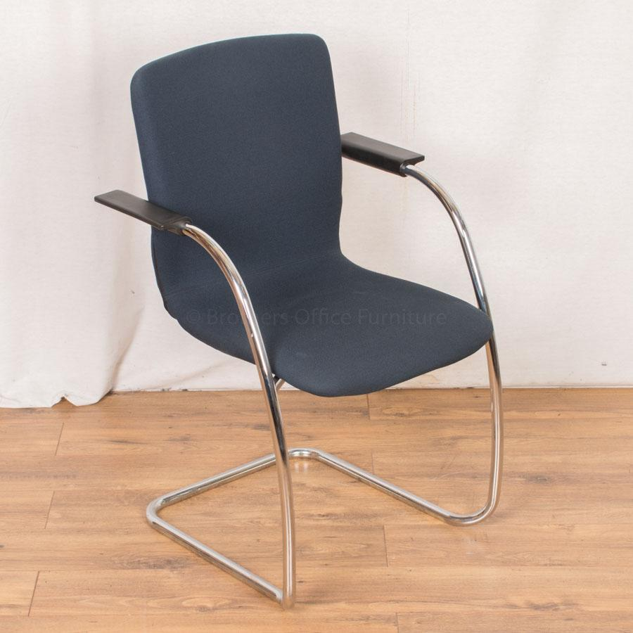 Orangebox GO Navy Cantilever Meeting Chairs