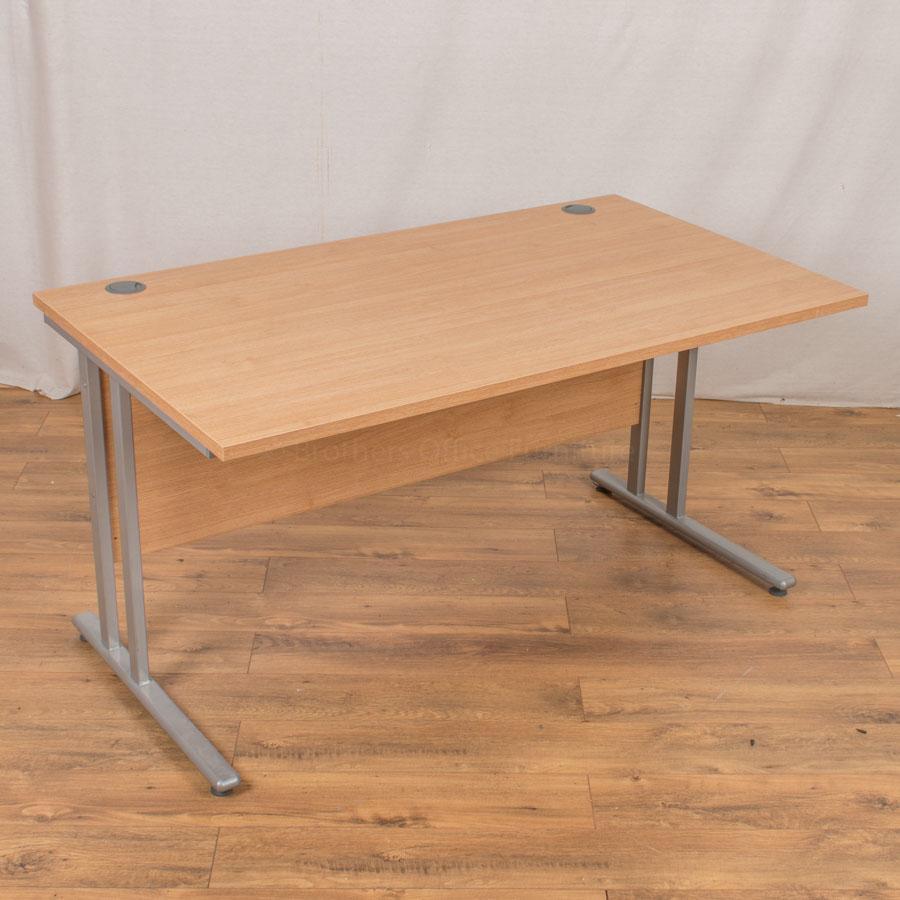 Dams Oak 1400x800 Straight Desk