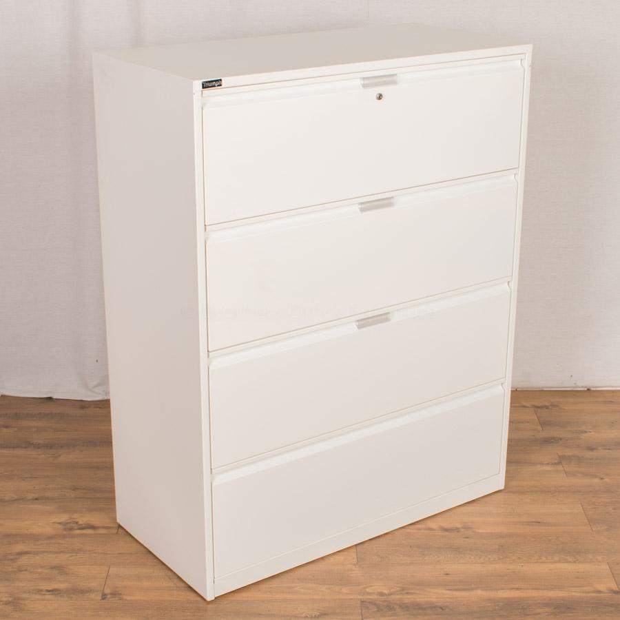 Triumph White Steel 4 Drawer Lateral Filer