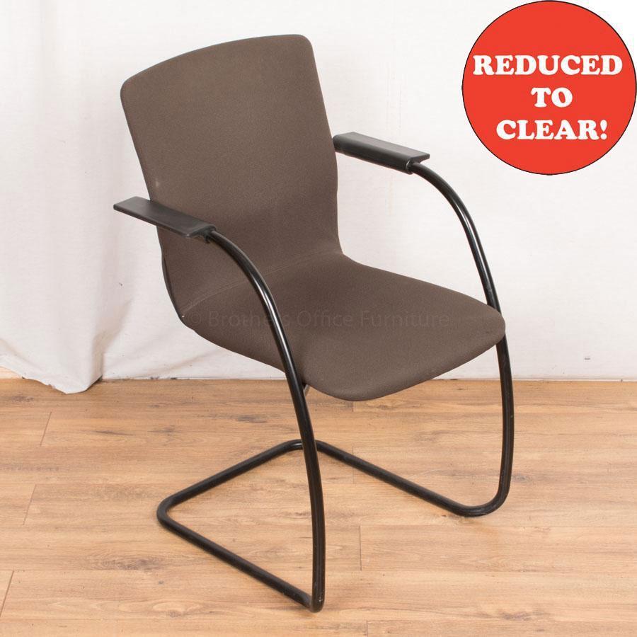 Orangebox GO Grey Cantilever Meeting Chairs