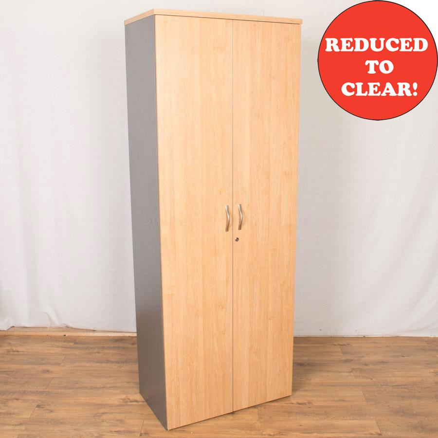 Dams Oak/Grey 2140H Office Cupboard