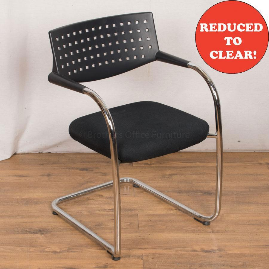 Vitra Vis-a-Vis Chrome Frame Meeting Chair