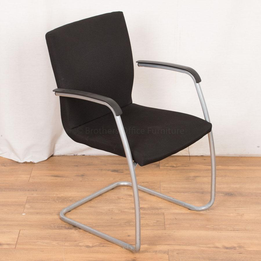 Black Square Back Meeting Chair