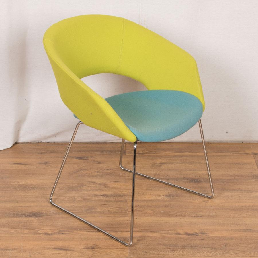 Verco Green/Turquoise Reception/Breakout Chair