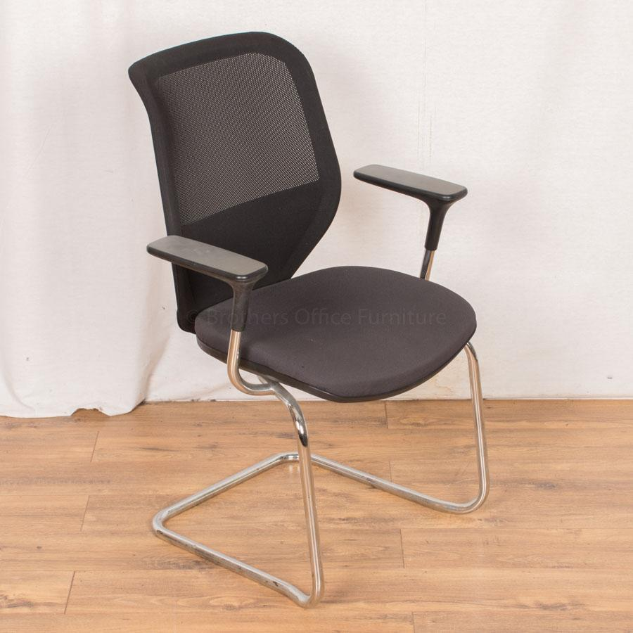 Orangebox Joy Mesh Back Meeting Chairs (Chrome)