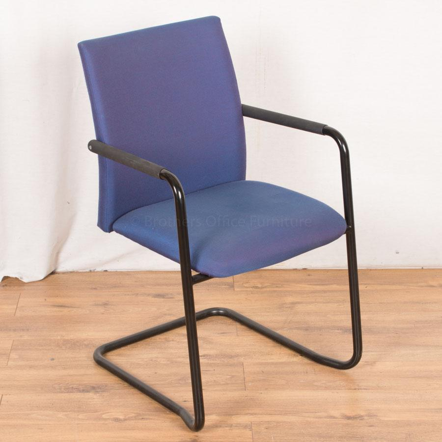 Purple Blue Fleck Cantilever Meeting Chair
