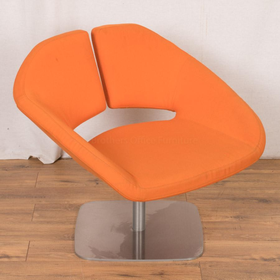 Orange Designer Breakout/Reception Chair