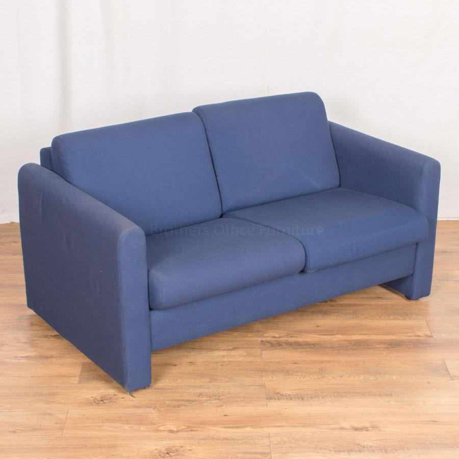 Blue 2 Seat Reception Sofa
