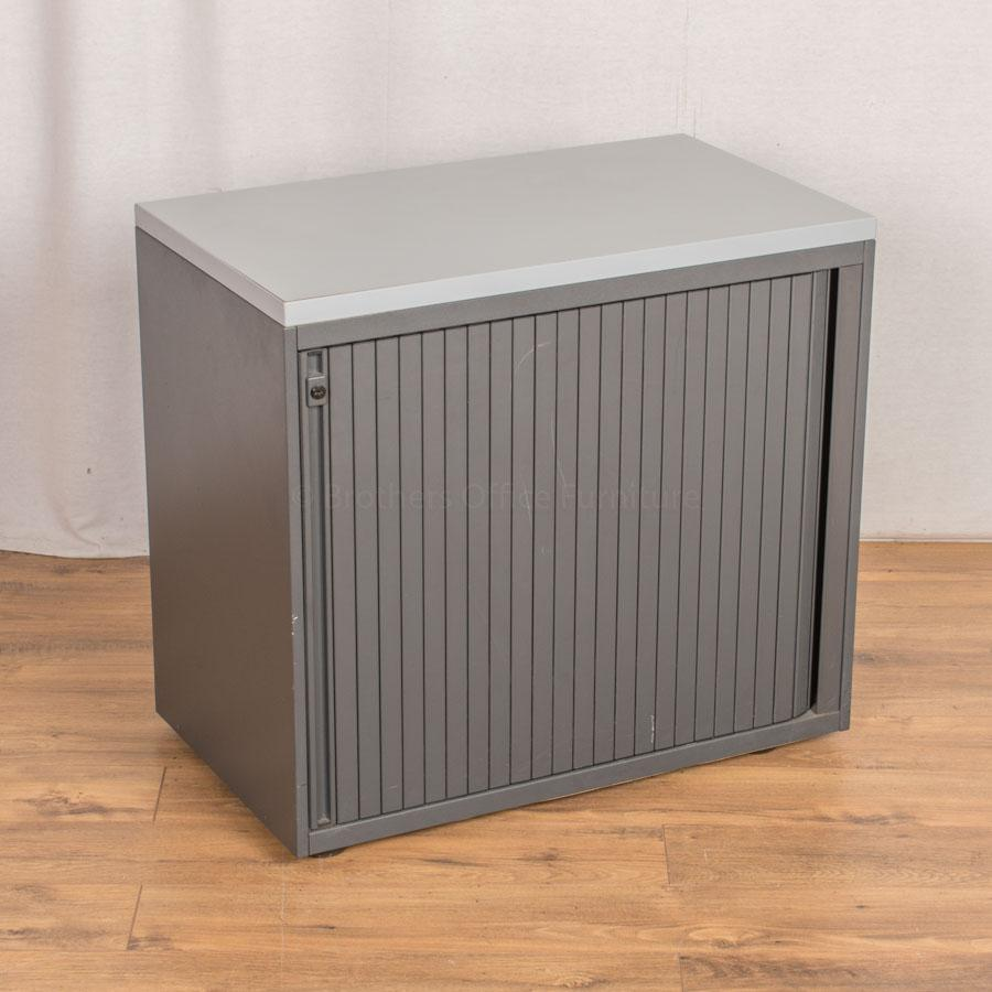 Two Tone Grey 725H Tambour Cupboard