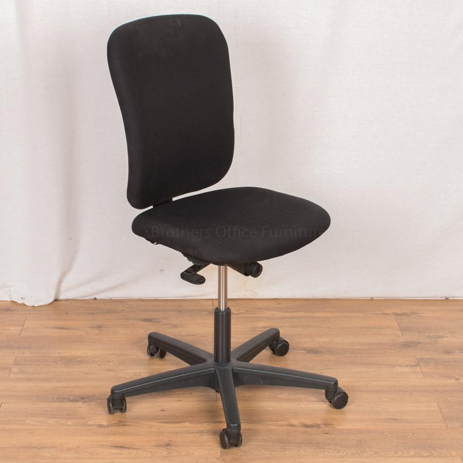 Black Fabric Office Chair (OP164)