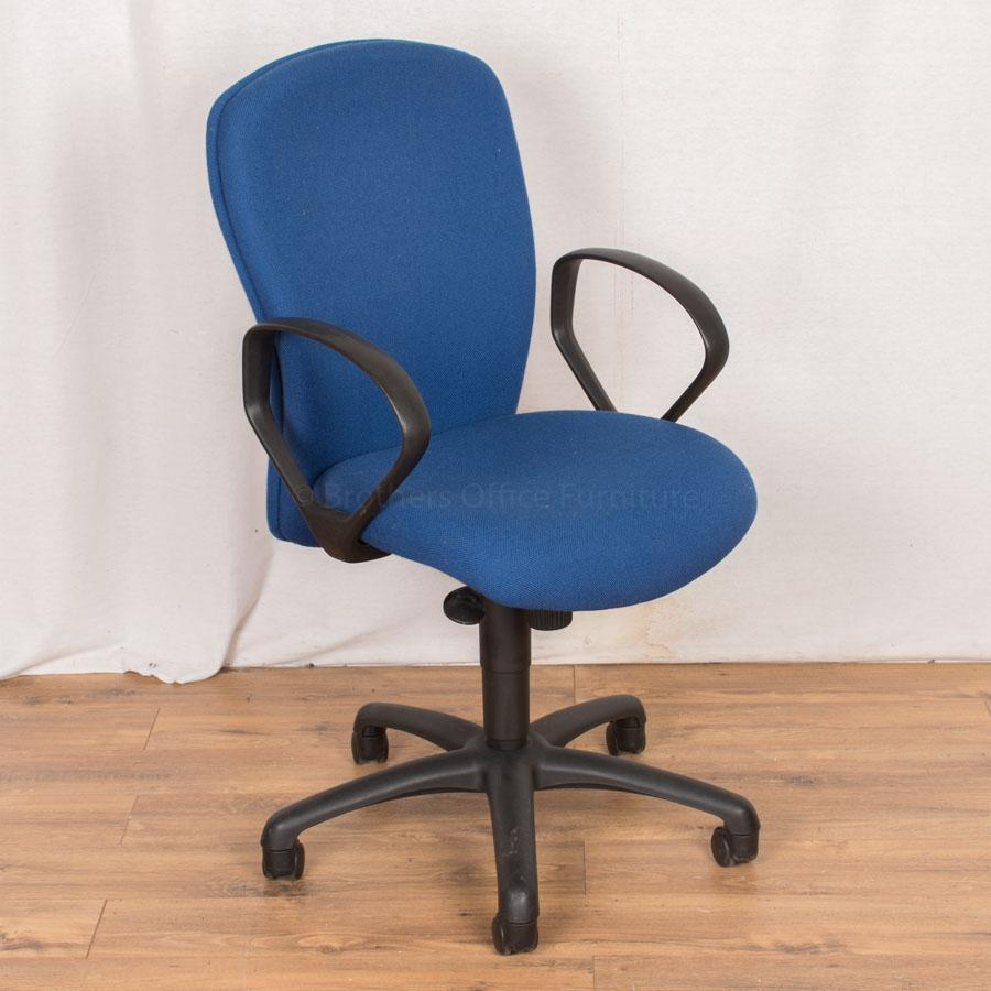 Blue Fabric Office Chair (OP165)