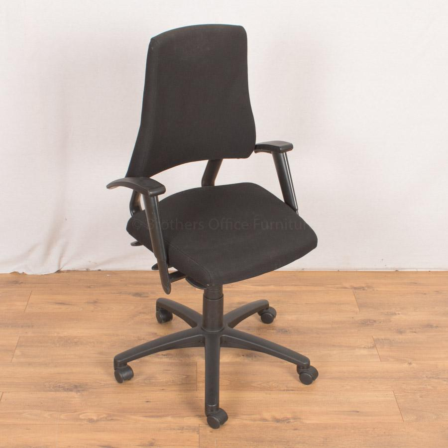 Axia Office Chair Mid Back Curved Arms