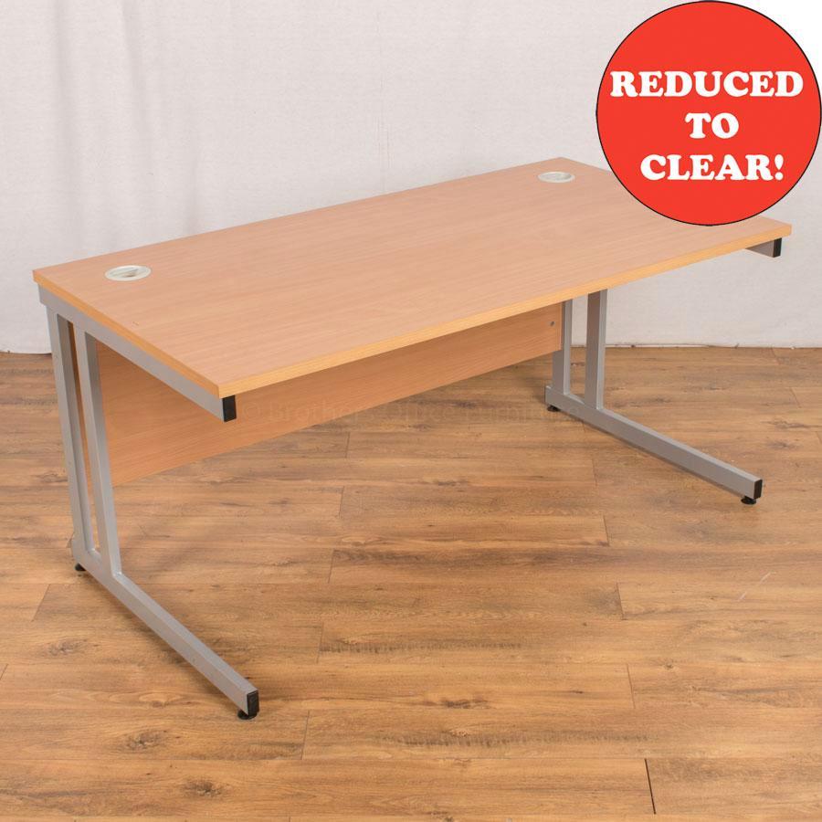 Beech 1400x800 Straight Desk