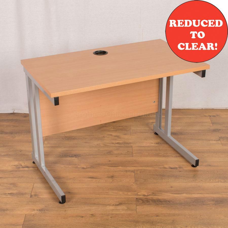 Beech 1000x600 Straight Desk