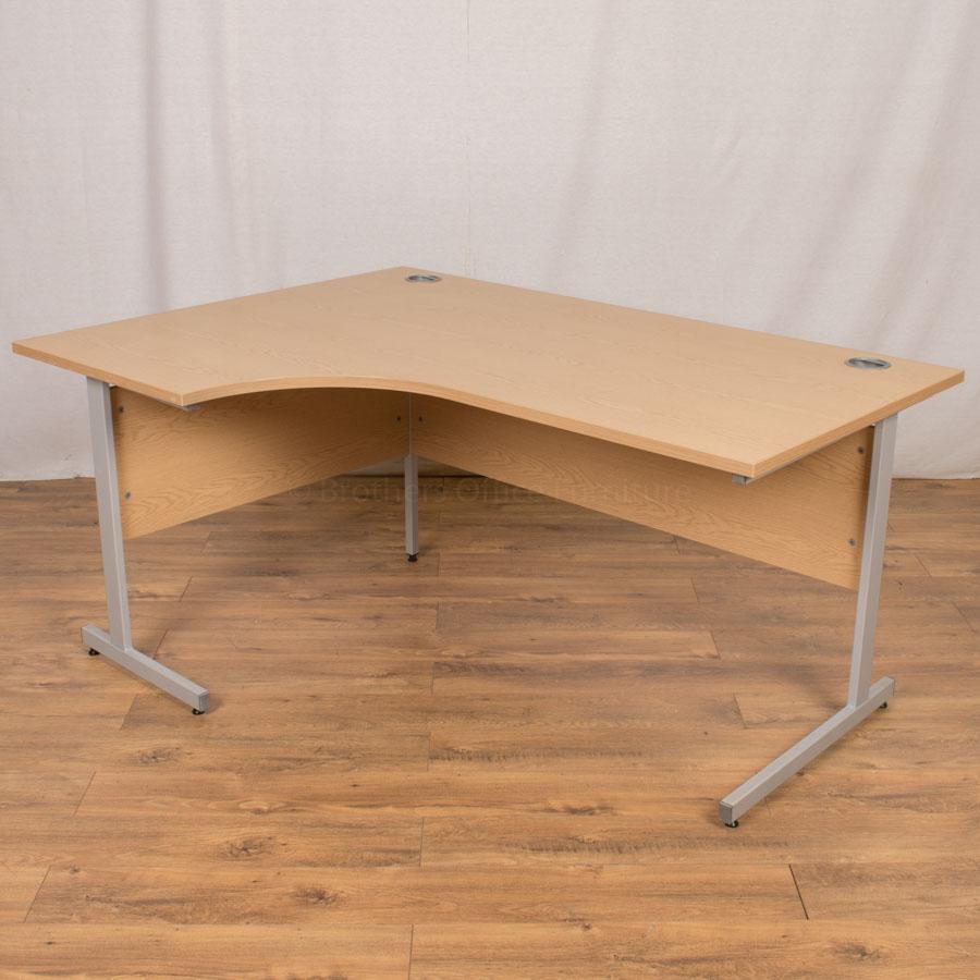 Senator Oak 1600x1200 Corner Desk