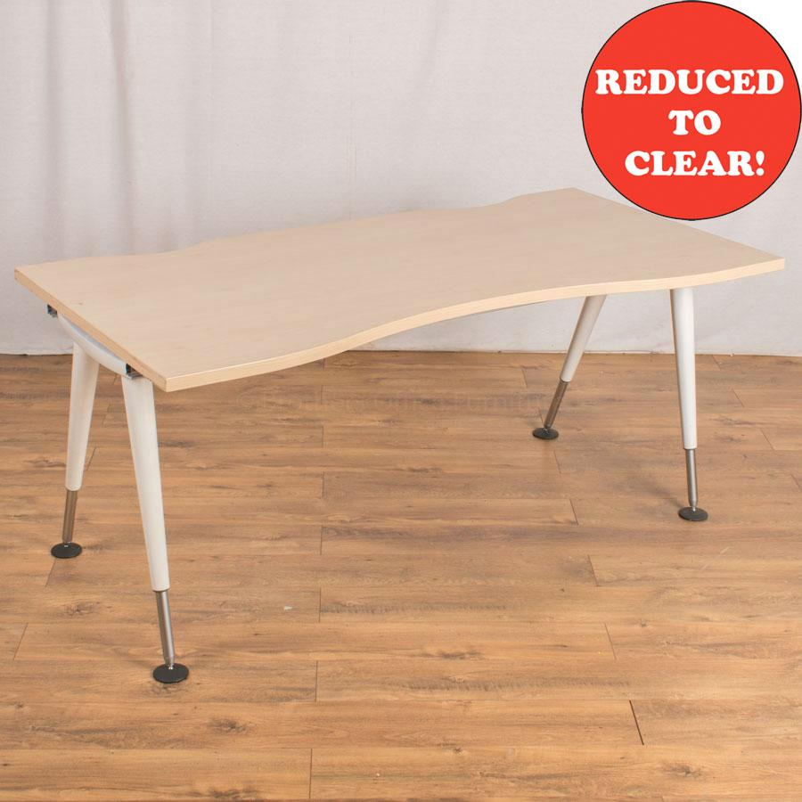 Herman Miller Maple 1600x800 Double Wave Desk