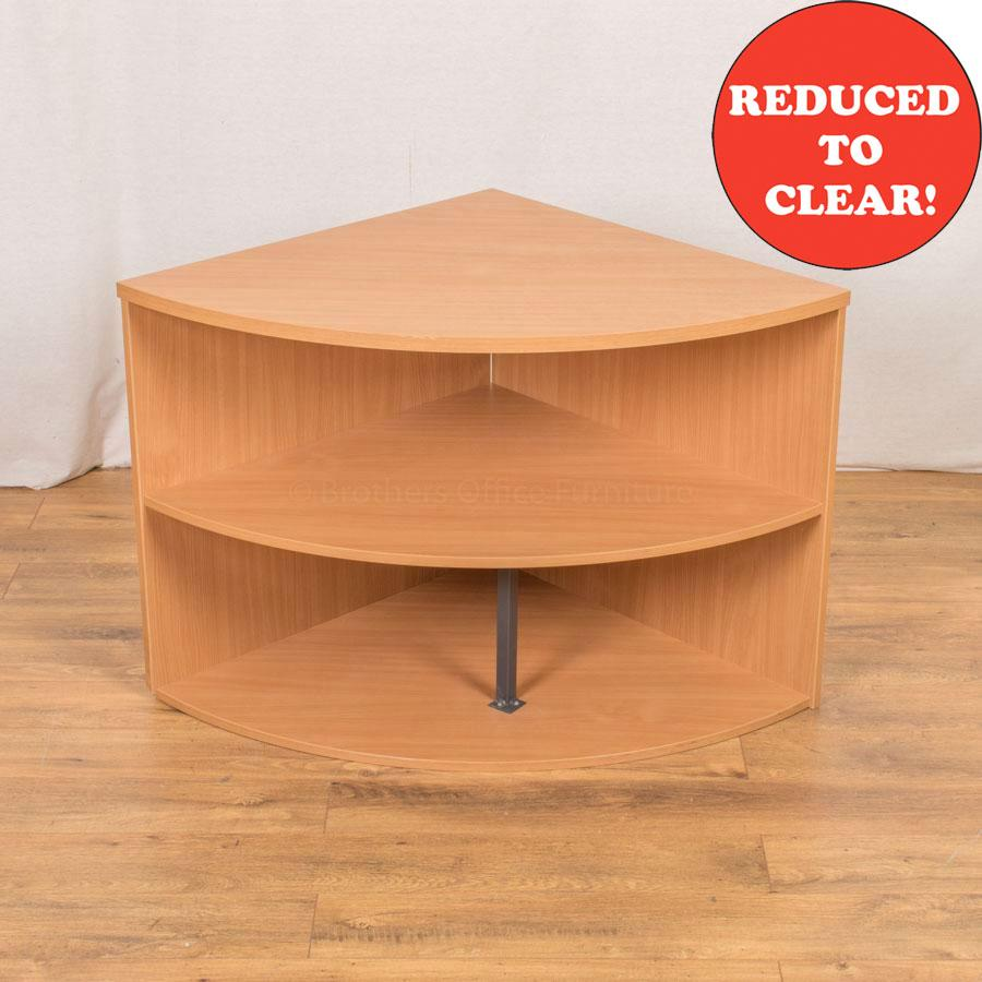 Beech Desk High Corner Bookcase
