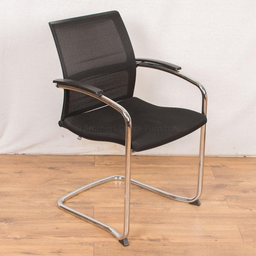 Sedus Chrome Mesh Back Meeting Chair