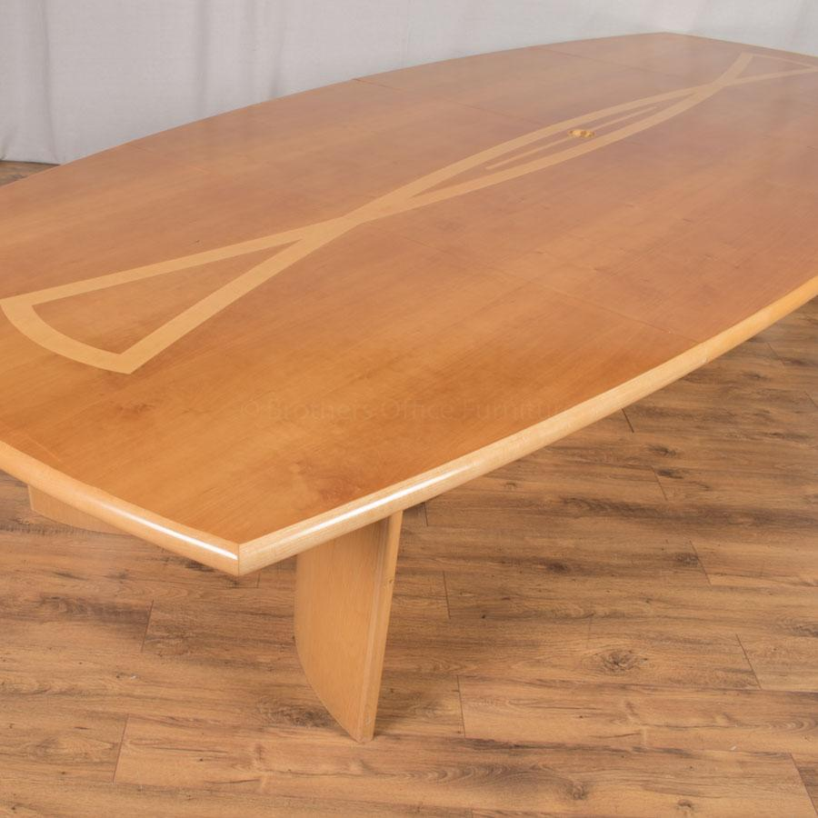 Cherry/Maple Veneer 4100x1700 Boardroom Table