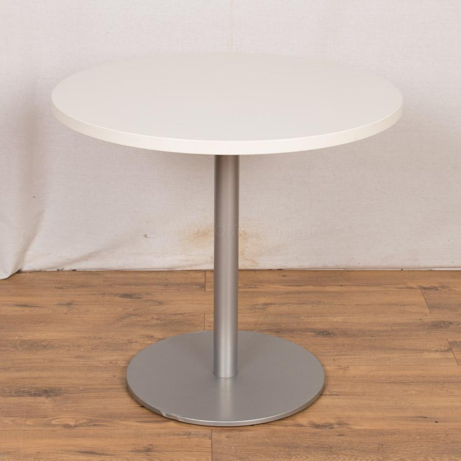 White 800D Round Office Table